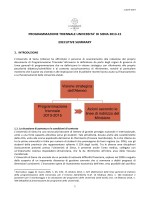 Executive summary - Università degli Studi di Siena