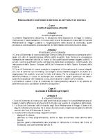 Regolamento di Ateneo in materia di dottorato di ricerca