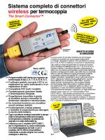 Sistema completo di connettori wireless per termocoppia The Smart