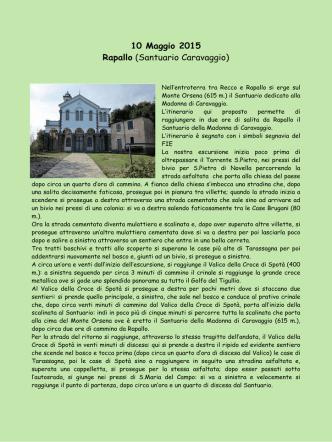 10 Maggio 2015 Rapallo (Santuario Caravaggio)