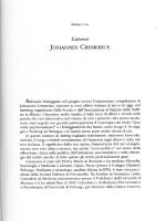 Ciro Elia: Editoriale Johannes Cremerius