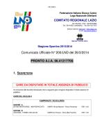 COMUNICATO ufficiale LND n.200 del 26 marzo 2014