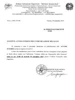 Avviso Interno individuazione R.S.P.P. a.s. 2014-15