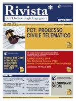 scarica la newsletter - Ordine degli Ingegneri della Provincia di Milano