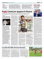 Rugby Cammi per spegnere le Fiamme