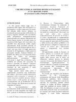 I RICERCATORI, IL SISTEMA RICERCA ITALIANO E LA