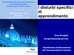 I disturbi specificidi apprendimento