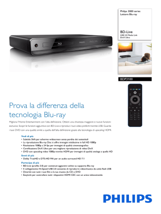 BDP3100/12 Philips Lettore Blu-ray
