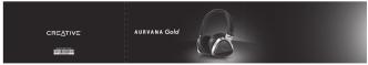 Creative Aurvana Gold User Guide
