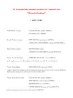 I VINCITORI - CIDIM - Comitato Nazionale Italiano Musica