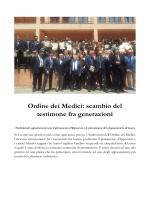 Ordine dei Medici: scambio del testimone fra generazioni