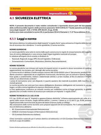 4.1 SICUREZZA ELETTRICA