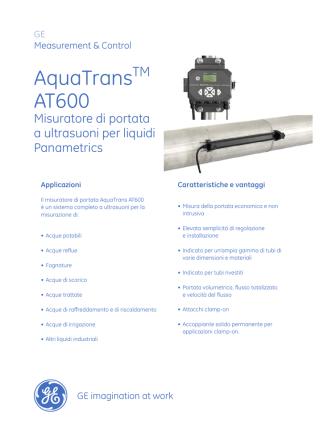 AquaTrans AT600 Panametrics Ultrasonic Flow Meter for Liquids