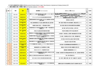 1.個別口頭報告 会場・時間割一覧表 Oral