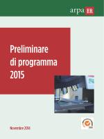 Preliminare di programma 2015