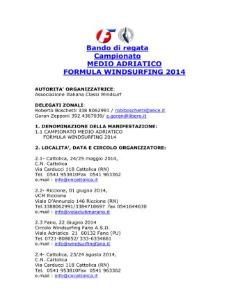 campionato medio adriatico 2014 fw