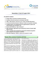 Newsletter 15 del 22 luglio 2014