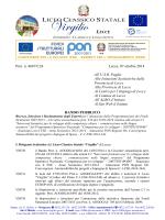 PON FSE C1 - Liceo Virgilio Lecce