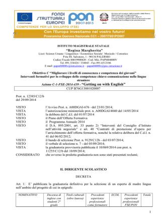 "Azione C-1-FSE-2014-439 - ""Getting on with English"""
