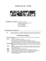 CURRICULUM VITAE DI CRISTINA LUSCHI
