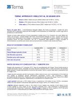 Comunicato stampa - Terna: approvati i risultati al 30 giugno 2014