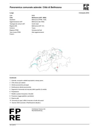 Città di Bellinzona - Fahrländer Partner AG