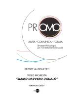 REPORT PROMO VIDEOINCHIESTA SIAMO DAVVERO UGUALI?