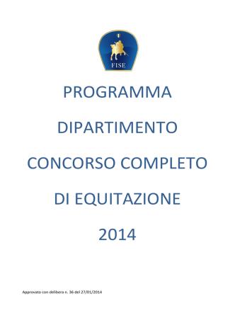 2014 Programma Dipartimento