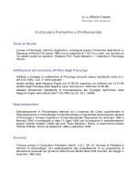 curriculum vitae - Dipartimento di Psicologia dei Processi di