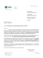 Cisl Campania: Rimodulazione ticket sanitari