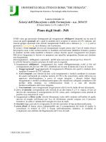 Piano degli Studi - PdS - Dipartimento di Scienze e Tecnologie della