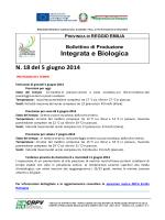Bollettino di produzione Integrata N°18