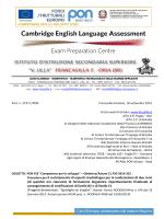 Reclutamento di esperti madrelingua. Progetto PON C1