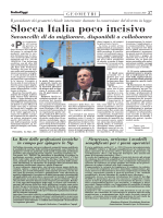 Slocca Italia poco incisivo