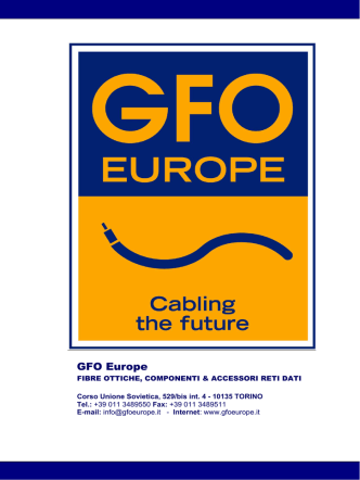 company profile - Gfo Europe S.p.A.