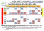 Piano Corsi Energia - Centro Sportivo In Sport