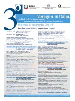 Programma Voragini in Italia