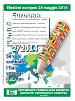 Unità Europea - 2014, Numero 2 - Movimento Federalista Europeo
