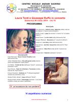 Laura Tenti e Giuseppe Ruffo in concerto