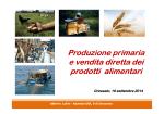 Produzione primaria e vendita diretta dei prodotti