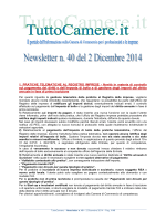 Newsletter n. 40 del 2 Dicembre 2014 1