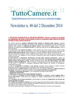 Newsletter n. 40 del 2 Dicembre 2014 1
