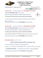 """CASCINA EXPLORER 2014 """"Giocando con le Stelle"""""""