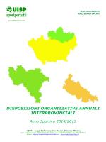 disposizioni organizzative annuali interprovinciali