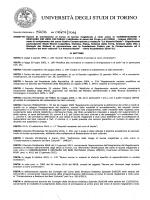 Bando Esame di Ammissione - Corso di studi di Conservazione e