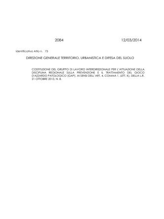 Costituzione del gruppo di lavoro interdirezionale per l