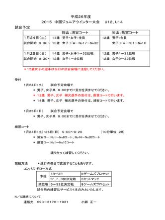 1月25日 - 中国テニス協会