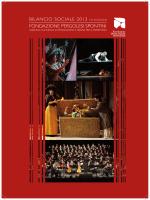 Bilancio Sociale 2013 - Fondazione Pergolesi Spontini