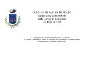 deliberazioni storiche 1964-1998