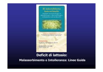 Deficit di lattasi (dr. F. P. Semeraro)